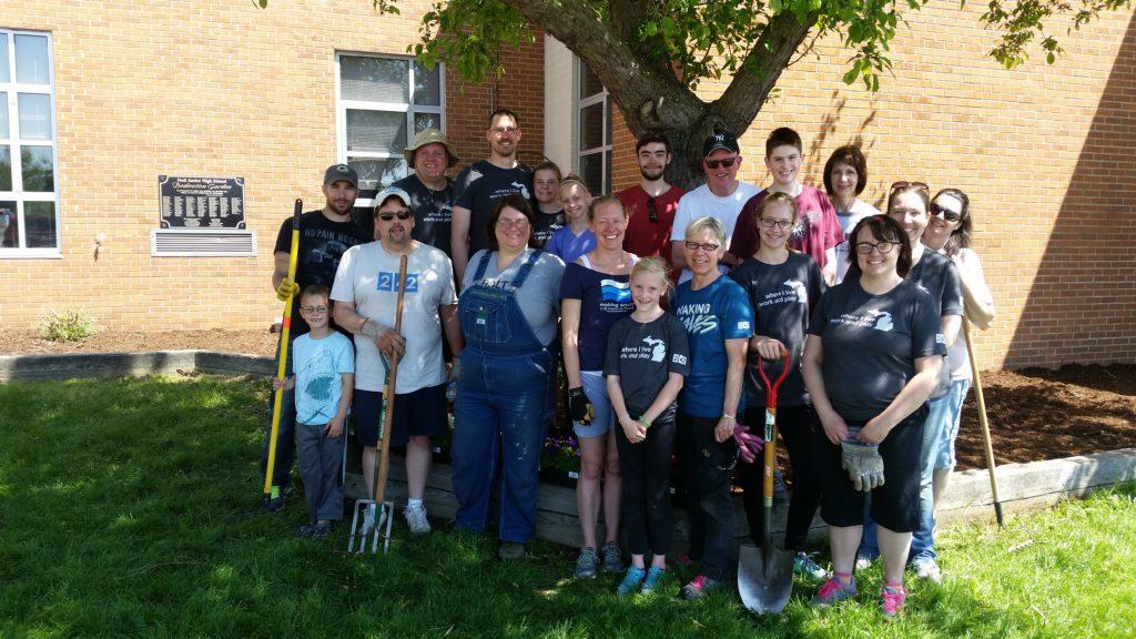 2017-05-13 Holt Junior High School Garden Volunteers