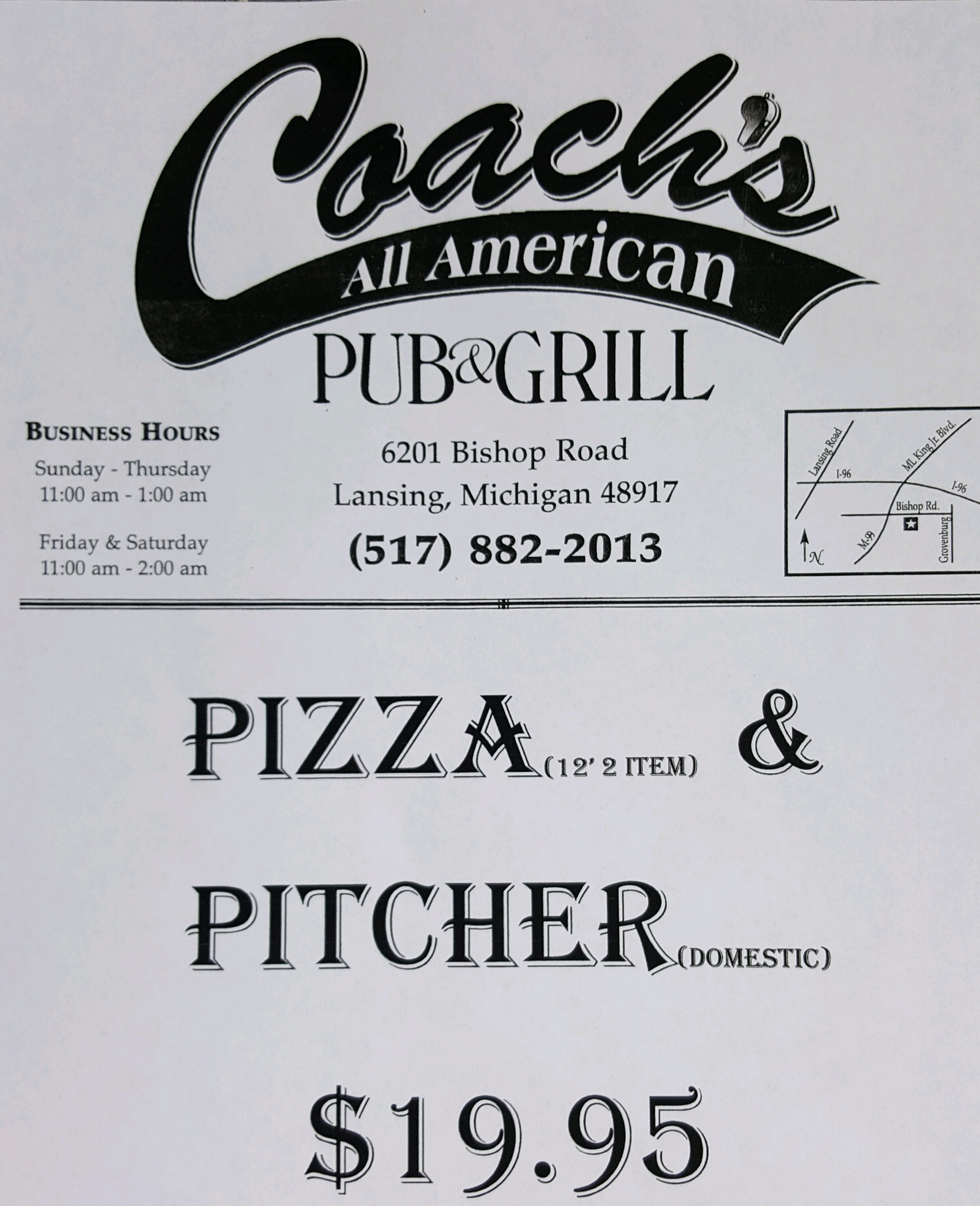 Coach's Hoops Lunch Special